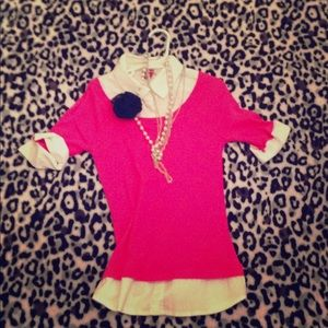 Other - Pink and white formal shirt